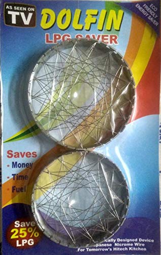 Smart Stainless Steel 5 in 1Gas Saver Net (Silver,1969)