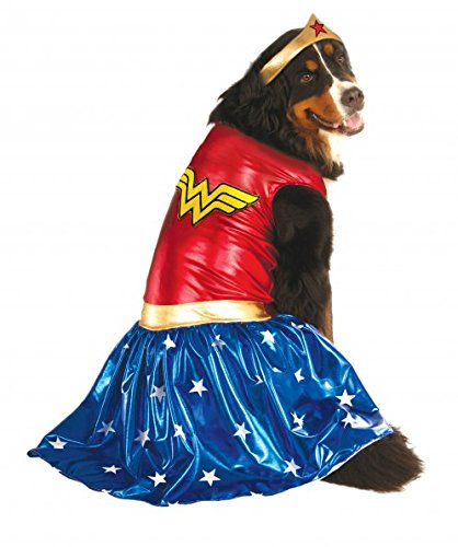 nder Woman Haustierkostüm, Wonder Woman, 3X, Mehrfarbig ()