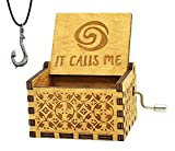 Y&S Moana It Calls Me Music Box Wooden Engraved Gift Musical Box Hand Crank Moana Music Box For Kids,Home Decoration Crafts