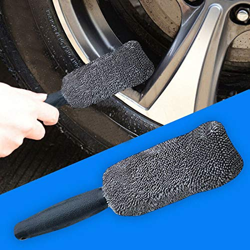 ELECTROPRIME Handle Brush Microfiber Wheel Tire Rim Cleaner 27*5cm Soil-Release Lint-Free