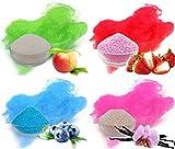 Produkt-Bild: Aromazucker für bunte Zuckerwatte 4x250g mit Geschmack   Apfel - Grün, Erdbeer - Rot, Heidelbeere - Blau, Vanille - Pink   Farbaromazucker und Dekorzucker für Zuckerwattemachinen