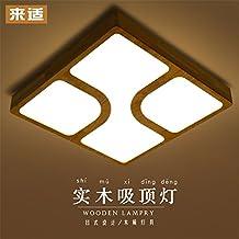 BRIGHTLLT Deckenlampe Kreative Japanische Massivholz LED Atmosphre Wohnzimmer Lampen Einfache Warme Master Schlafzimmer Lampe