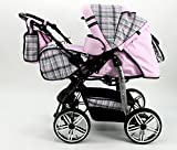 Kombi Kinderwagen Babywagen Sportwagen Travel System Pascal von Karex 3in1 + Babyschale Carlo 0-10kg + Zubehör