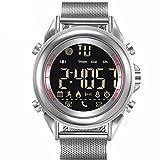 Rojeam Herren Wasserdichte Sport Bluetooth Smart Watch für Android IOS(Weiß)