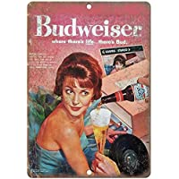 "VEHFA Budweiser Beer Vintage RCA Record Ad 12"" X 18"" Reproduction Metal Sign E"