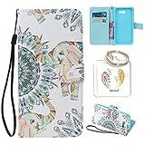 für Galaxy J3 (2017 Edition) PU Leder Silikon Schutzhülle Diamant Handy case Book Style Portemonnaie Design für Samsung Galaxy J3 (2017 Edition) + Schlüsselanhänger (RED) (7)
