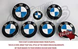 Weiß& Pantone Blau Identisch mit BMW Abzeichen Emblem - Vinyl Überzug Aufkleber Superwrappz Bezüge für Haube Koffer Felgen Räder für Alle Serie 1, 2, 3, 4, 5, 6, 7, X1, X2,X3,X4, X5,X6,Z1, Z3,Z4,Z8,
