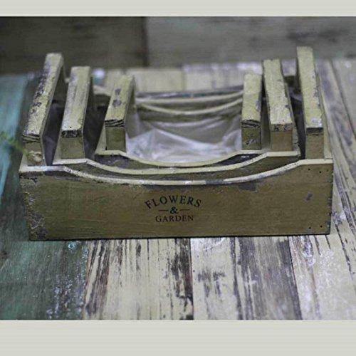 New day®-paese americano fare in legno vecchio giardinaggio tre mensola riceve un negozio di scatola contenuti fiore, ornamento è disposto , green