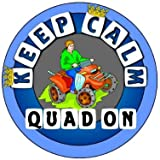 Keep Calm Quad On - Coche Pegatina / Car Sticker Sign Blue