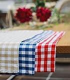 FILU Tischdecke 100 x 140 cm, Rot/Weiß (Farbe und Größe wählbar) Tischtuch aus 100% Baumwolle, elegant kariert und hochwertig durchgefärbt im skandinavischen Landhaus-Stil - 4