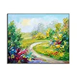 Gardern Of Flowers Impressive Nature Scenery Rustic Country Landscape HD Oil Pai
