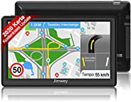 Jimwey Navigationsgerät für Auto LKW Navigation GPS Navi Navigationssystem Zoll 16GB Lebenslang Kostenloses Ka
