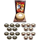 TYYC Radha Krishna Votive Tealight Candle Holder | New Year Gifts Items Joyous Radha Krishna Idol Tea Light Holders Set Of 51| T-lights Candles Diyas Lights For Pooja, Puja, Mandir Home Decor Items