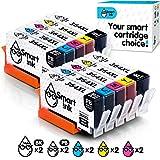 Smart Ink kompatible Tintenpatrone als Ersatz für HP 364 XL 364XL 10 Multipack (2PBK &2BK/C/M/Y) Patrone hoher Kapazität für HP Photosmart 5510 5520 6525 C5380 Deskjet 3070A 3520 Officejet 4620 4622