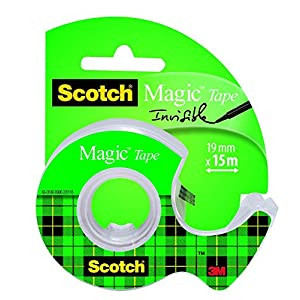 Scotch® 8 1915D Magic Tape Dispenser with 1 Roll Adhesive Tape 19 mm x 15 m