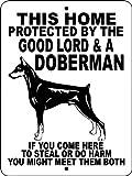 Doberman Pinscher perro guardián 9'x12' 'de aluminio animalzrule Original diseño–' no one else is auth0rized a vender esta señal '(cualquier otra venta esta señal es una copia barata de venta)