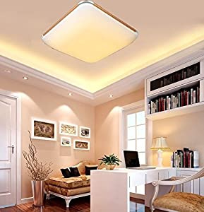 Sailun 24W Cool White/Warm White Ultraslim LED Ceiling Light Modern Hallway Living Room Lamp Bedroom Kitchen Save Energy Light Wall Light Colour: Silver / Gold from Generic