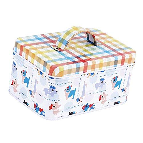 LOVIVER Leere Dosen Aufbewahrungsbox Container Geschenkbox Für Süßigkeiten, Tee - Hund -