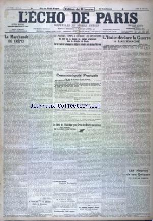 ECHOS DE PARIS (L') [No 11700] du 28/08/1916