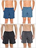 Jockey Men's Cotton Boxer (Assorted Colours, Large) - Pack of 4