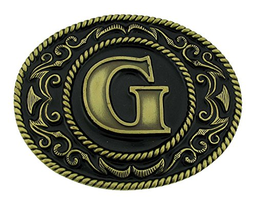 Siskiyou Western cowboy cowgirl initial letter G Belt Buckle rodeo Vintage Women (Womens Western Belt Buckle)