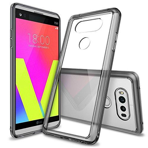 LG V20 Hülle, Ringke FUSION kristallklarer PC TPU Dämpfer (Fall geschützt/ Schock Absorbtions-Technologie) für das LG V20 - Rauchschwarz