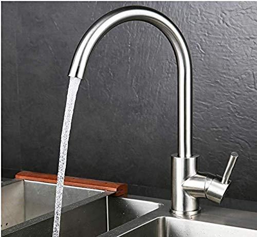 Sink Armaturen für Bath304 einzelne Loch - Küche - Hahn - Wannen - Mischer - Hahn - heiße kalten Deck Einhand - Wasserhähne gebürstet Mounted - Finish (Einzelne Wanne Armaturen)