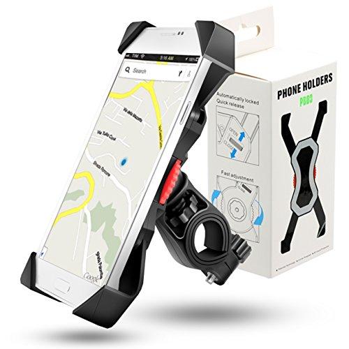 Grefay Fahrrad Handyhalterung Scooter Universal Handyhalter Motorrad Lenker Mit 360° Drehbarer Für 3,5-6,5 Zoll Smartphone