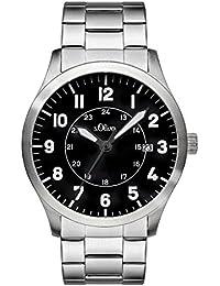 s.Oliver Herren-Armbanduhr Analog Quarz Edelstahl SO-3128-MQ