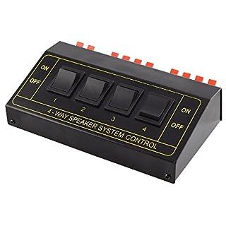 Audio Lautsprecher Umschaltbox Switch für 8 Boxen / Schwarz