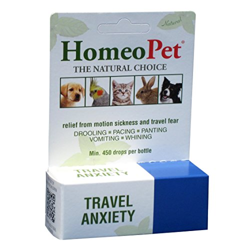 HomeoPet Travel Anxiety Relief Homöopathisches Mittel für Angstzustände bei Haustieren, 15 ml (15 ml) (Sortiert)