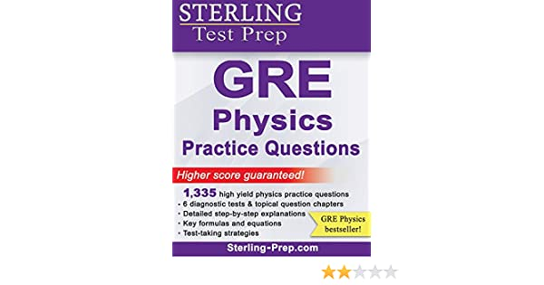 Buy Sterling Test Prep GRE Physics Practice Questions Book