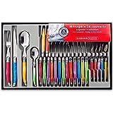 Laguiole Heritage - Ménagère 24 pièces multicolore - Set de couverts de table acier inox et ABS pour 6 personnes - Présentati