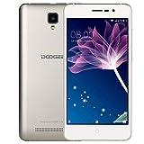 Telephone Portable Debloqué, DOOGEE X10 Smartphone Pas Cher, Telephone 3G Android 6.0 Double SIM, 5 Pouce IPS Écran - MT6570 Cortex-A7@1.3 GHz 8Go de ROM - Appareil Photo 5MP - Batterie 3360mAh - Or