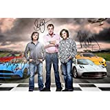 TOP GEAR X3 SIGNED PHOTO PRINT 2 - SUPERB QUALITY - 12 X 8 INCHES (A4)