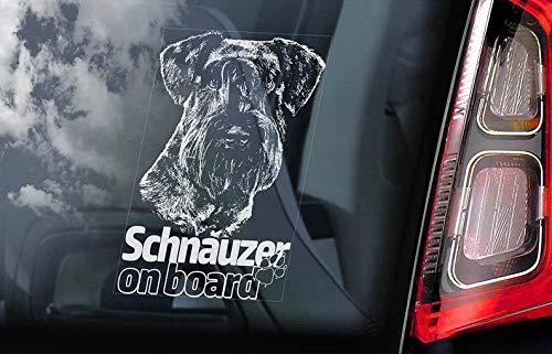 CELYCASY V02 Auto-Aufkleber Schnauzer on Board - Standard Miniatur Hund Schild Aufkleber Geschenk