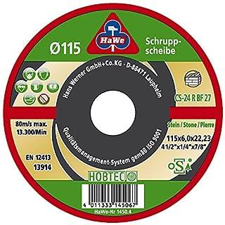 HaWe 1450.4 HOBTEC-SCHRUPPSCHEIBE Stein 115X6, x, 115 x 6 mm