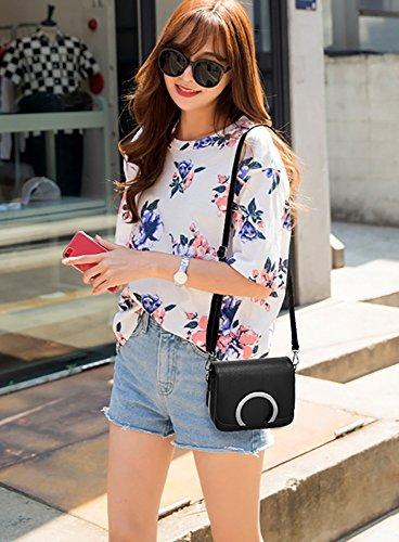 CLOTHES- Borsa femminile Borsa da donna coreana di moda Borsa Piccola Borsa quadrata sacchetto di spalla selvaggia Messenger Messenger ( Colore : Nero ) Nero