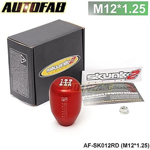 sypure (TM) autofab–Burning M12x 1,25auto da corsa JDM manuale in alluminio SK-2Pomello del cambio Shift pomello del cambio per Scion Subaru af-sk012br (M12x 1,25), Red