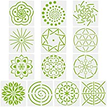Novelfun Mandala - Plantillas para pintar puntos, juego de 13, plantillas de mandala para