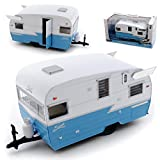 Greenlight Anhänger Wohnwagen Shasta 15 Airflyte Blau Weiss 1/24 Modell Auto