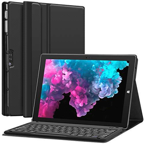 Earto Surface Hülle Tastatur 12.3 Zoll für Microsoft Surface Pro 6 (2018) / Surface Pro 5 (2017) /Surface Pro 4 12,3 Zoll Tablet - Case & Magnetisch abnehmbare kabellose Tastatur