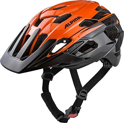 Alpina Unisex- Erwachsene ANZANA Fahrradhelm, orange-black, 57-61 cm