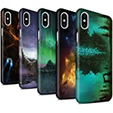 Offiziell Chris Cold Hülle / Matte Snap-On Case für Apple iPhone X/10 / Pack 12pcs Muster / Fremden Welt Kosmos Kollektion