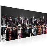 Bilder 100 x 40 cm - New York Bild - Vlies Leinwand - Kunstdrucke -Wandbild - XXL Format - mehrere Farben und Größen im Shop - Fertig zum Aufhängen - 601912a