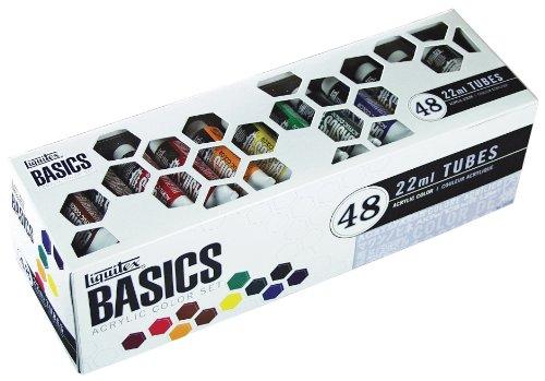 liquitex-basics-pack-de-48-tubes-de-peintures-acryliques-22-ml-couleurs-assorties