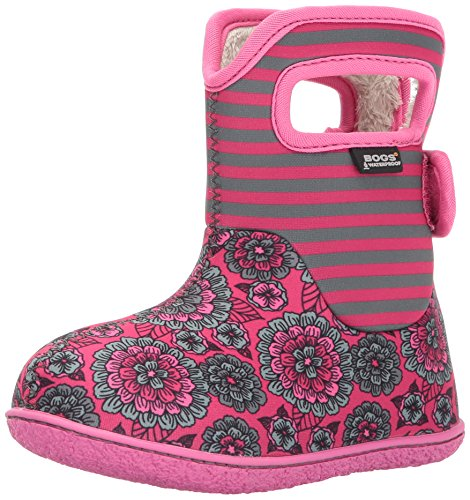 BOGS Baby Girls Pansy Stripe Snow Boot