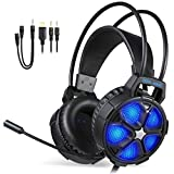 EasySMX 【2019 Version Casque Gaming PS4】 Casque Gaming Ultra-léger pour PS4, Xbox One, PC, Mac,...