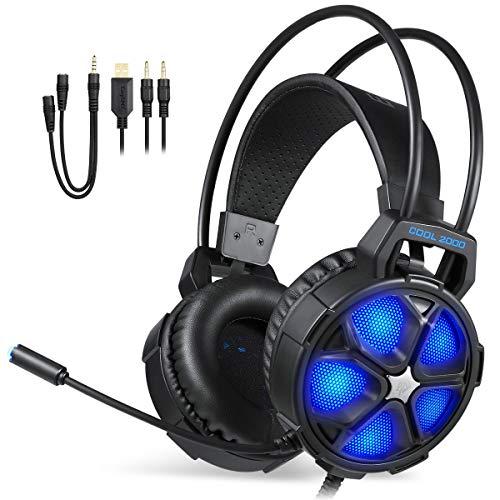 SMX Stereo Gaming Kopfhörer für PC / MAC / NEU Xbox One / PS4 / Smartphone / Nintendo Schalter ()