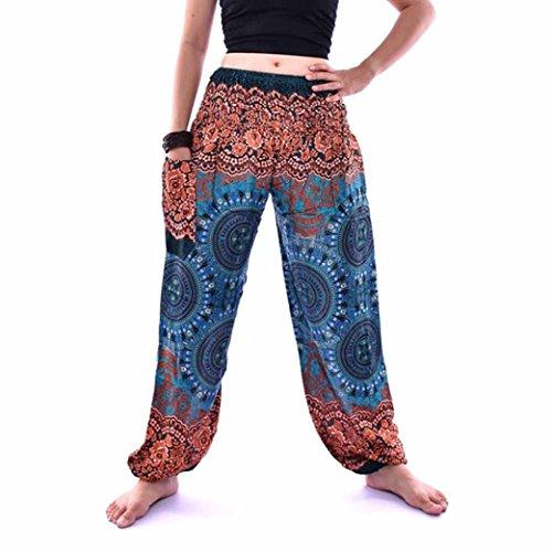 FNKDOR Fashion Sport Style Men Women Breathable Dance Show Sexy Charming Thai Harem Trousers Boho Festival Hippy Smock High Waist Yoga Pants